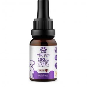 MedTerra Pet CBD Oil Tincture – Beef Flavored
