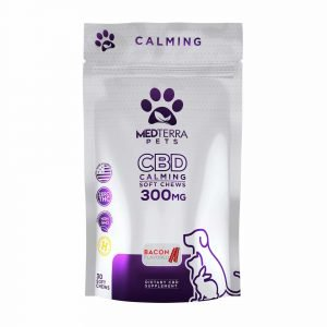 MedTerra Pet CBD Soft Chews 300mg Bacon