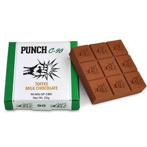 Punch Edibles – Toffee Milk Chocolate Bar 90mg