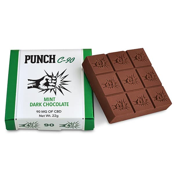 Punch Edibles Chocolate Bar – Mint Dark Chocolate