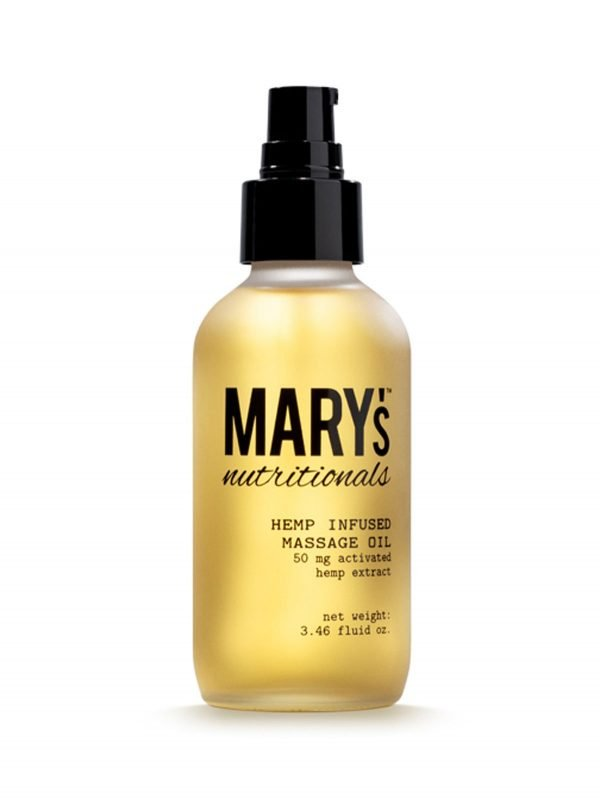 Mary's Nurtritionals Hemp Infused Massage Oil 50 mg