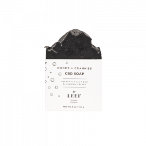 LEEF Nooks + Crannies - Charcoal & Clay CBD Soap