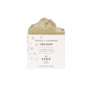 LEEF Nooks + Crannies - Cucumber Melon CBD Soap