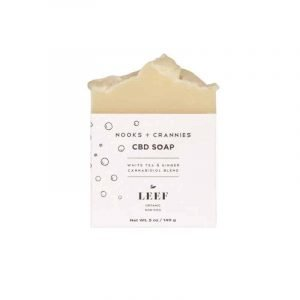 LEEF Nooks + Crannies - White Tea & Ginger CBD Soap