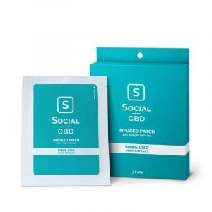 Social CBD patch 60mg (3 pack)