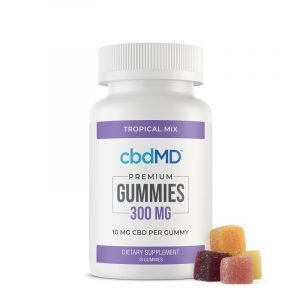 cbdMD Tropical Gummies 300mg 30ct