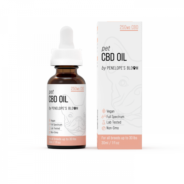 Penelope's Bloom Pet CBD Oil 250mg with MCT Oil and Chamomile
