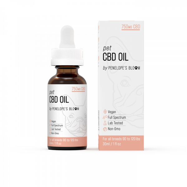 Penelope's Bloom Pet CBD Oil 750mg with MCT Oil and Chamomile