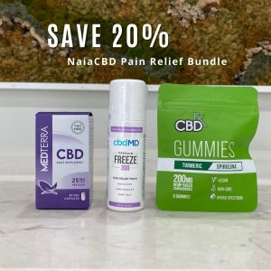 three cbd products in a bundle for pain management